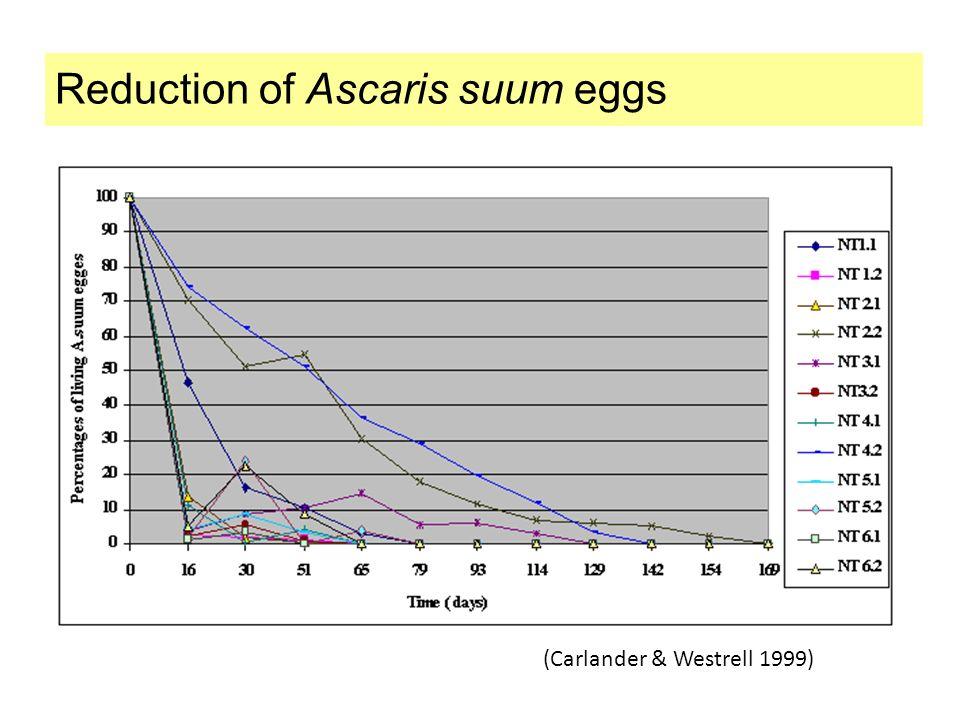 Reduction of Ascaris suum eggs
