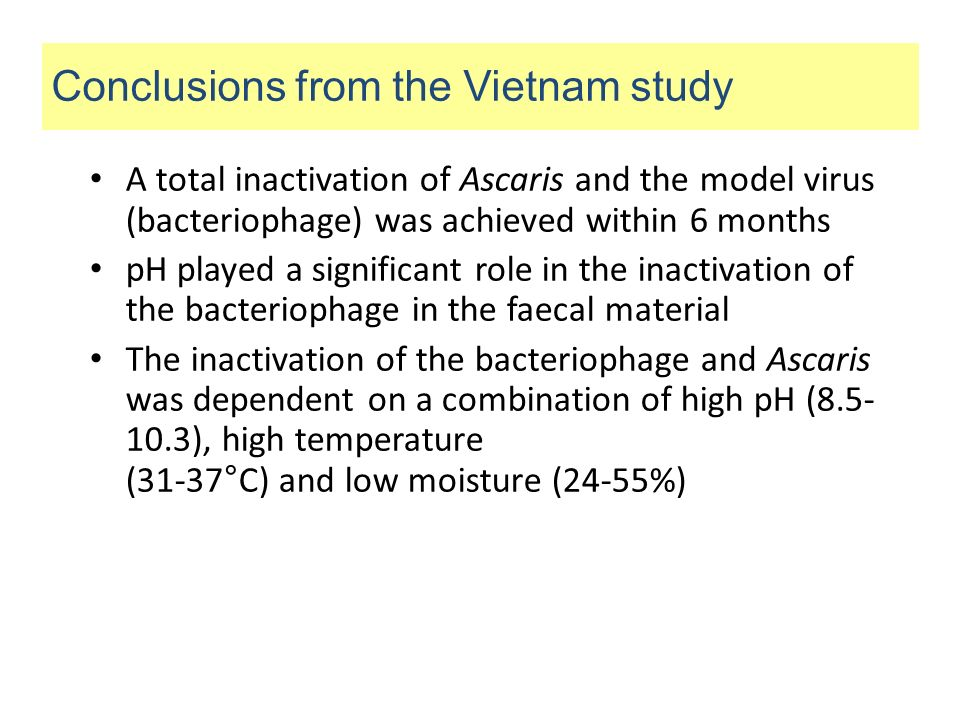 Conclusions from the Vietnam study
