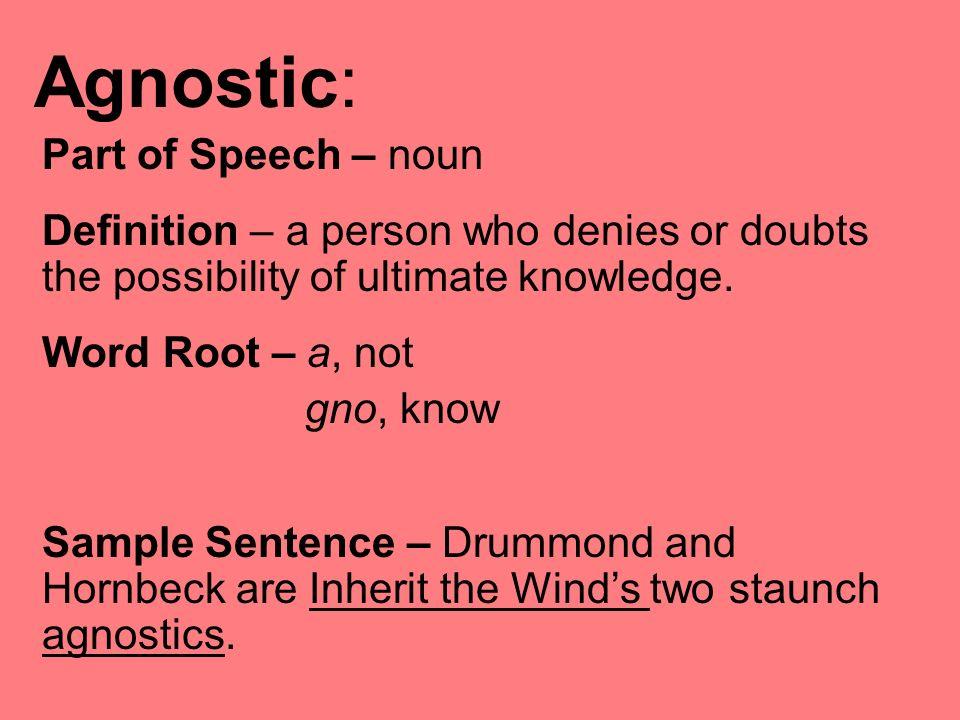 Image Result For Agnostic Definitiona