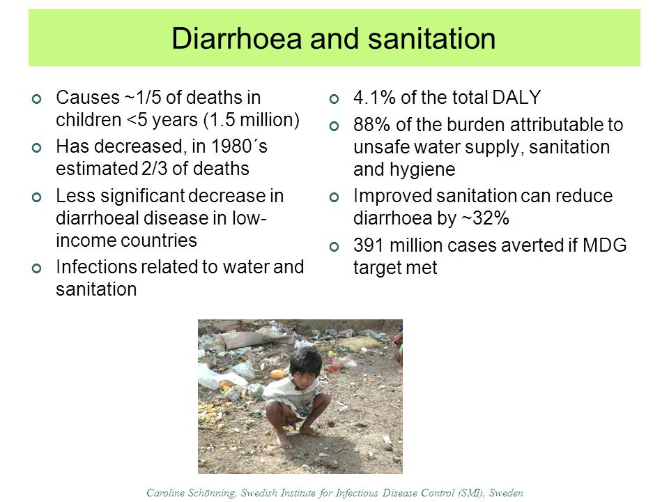 Diarrhoea and sanitation