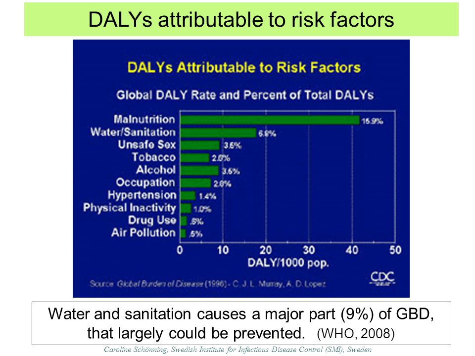 DALYs attributable to risk factors