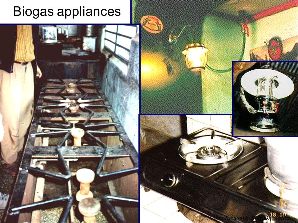 Biogas appliances Pedro Kraemer, BORDA, India