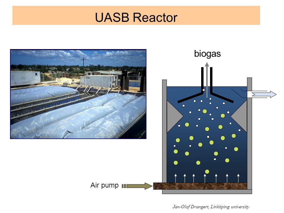 UASB Reactor biogas Air pump Jan-Olof Drangert, Linköping university