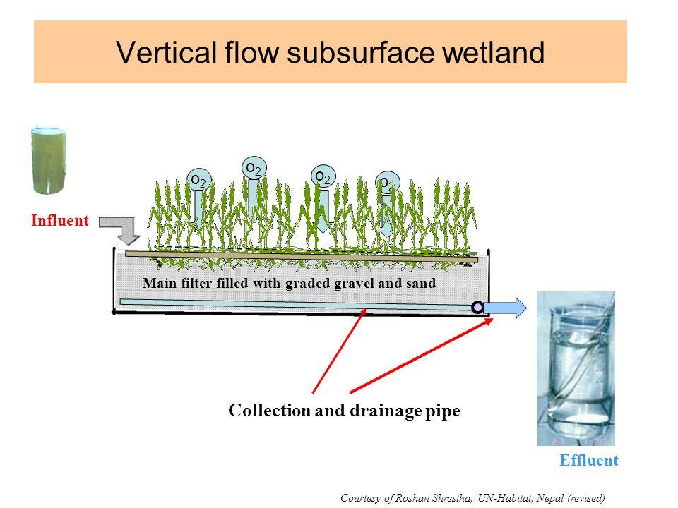Vertical flow subsurface wetland