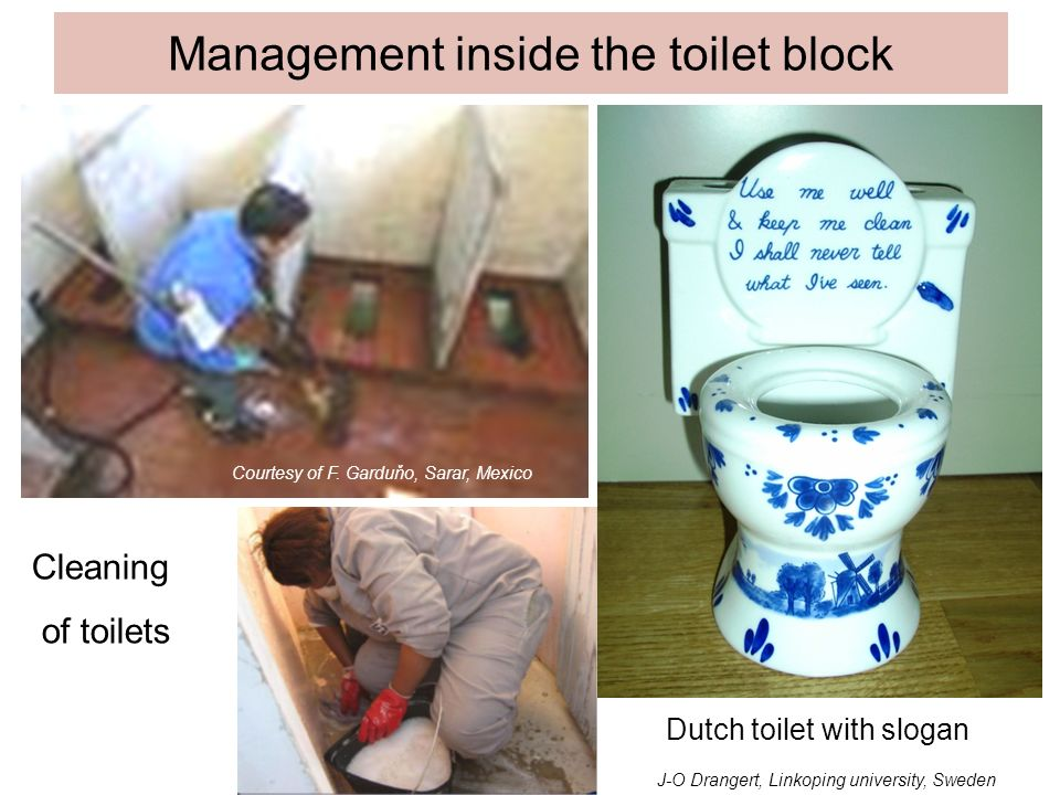 Management inside the toilet block