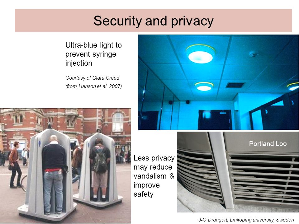 Security and privacy Ultra-blue light to prevent syringe injection