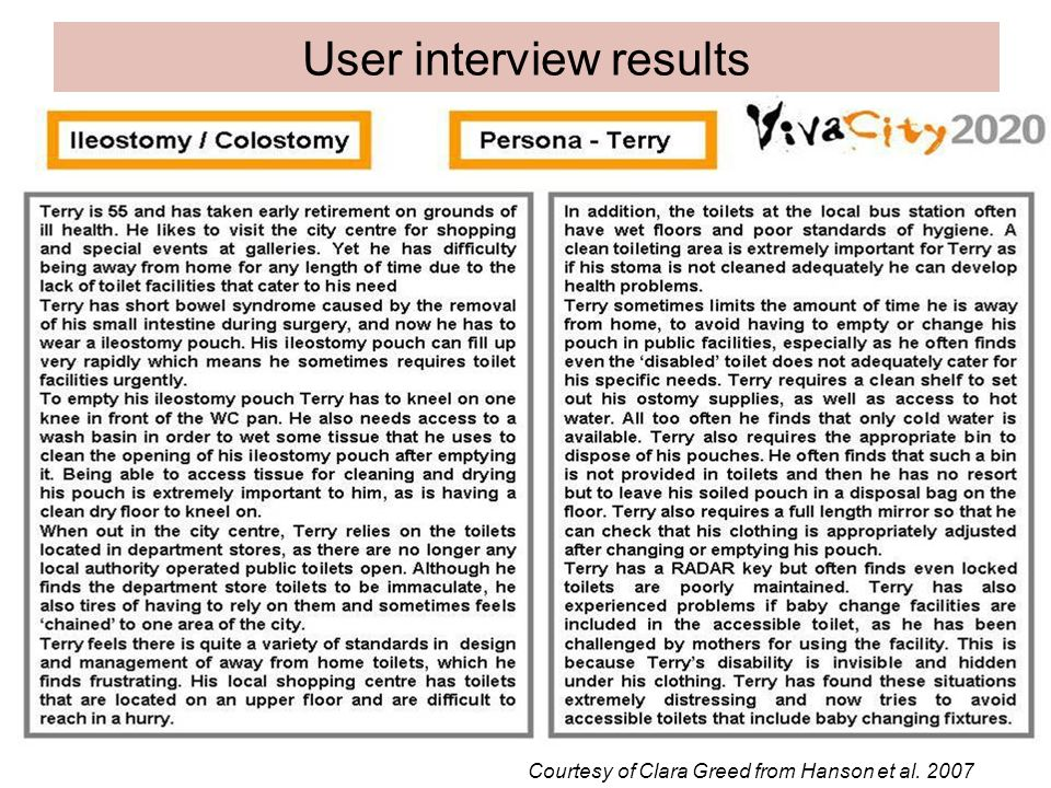 User interview results