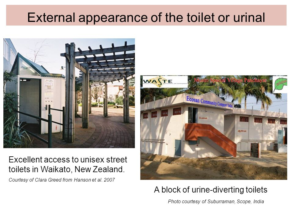 External appearance of the toilet or urinal
