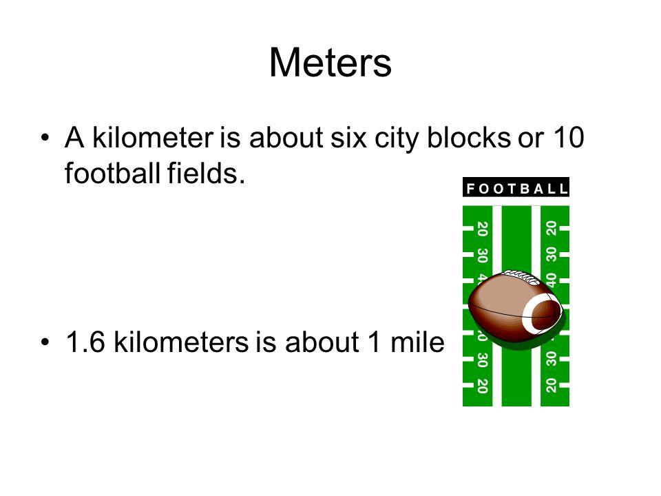 Football Field Kilometers
