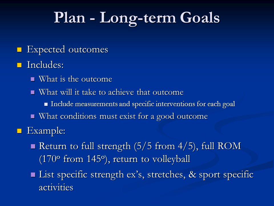 how to plan long term goals