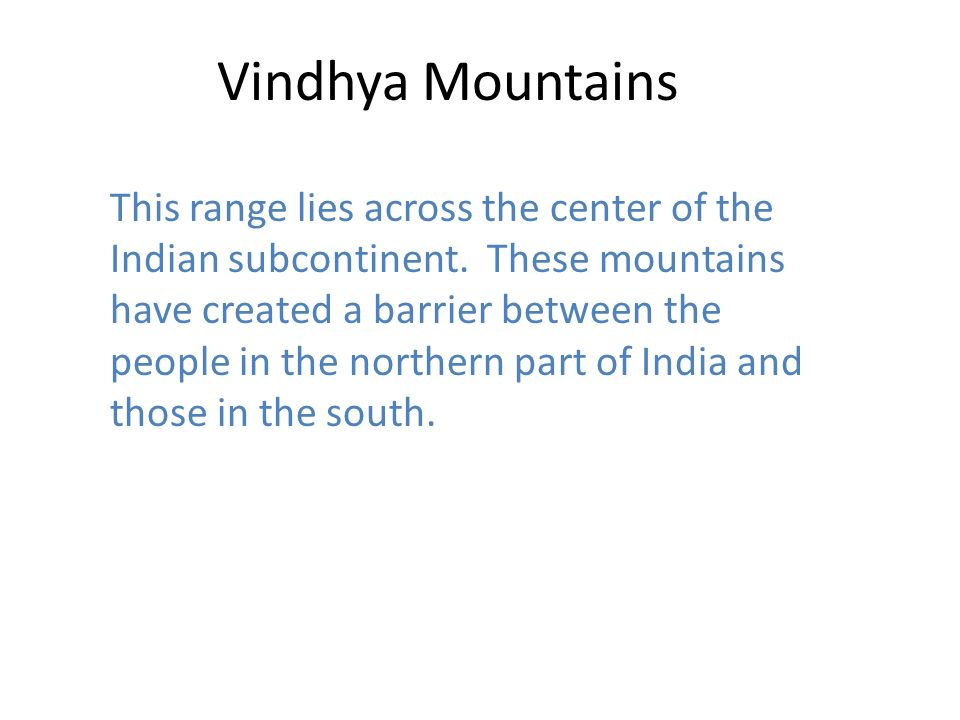 Vindhya Mountains