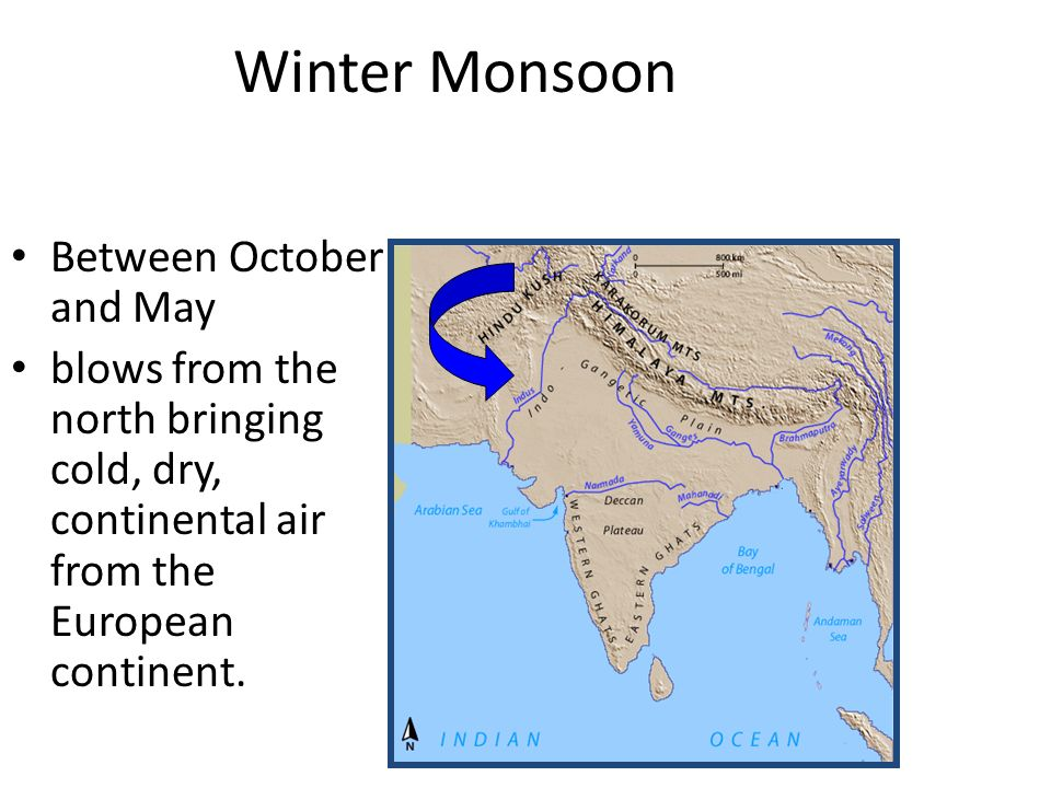 Winter Monsoon Between October and May