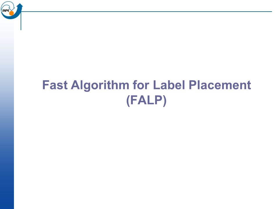 Fast Algorithm for Label Placement (FALP)