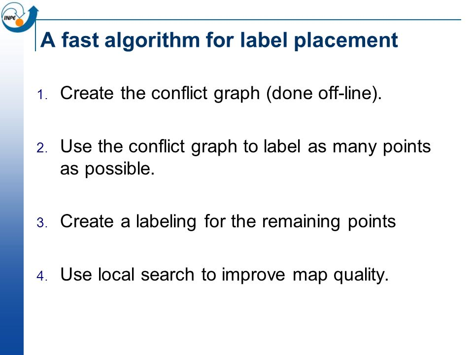 A fast algorithm for label placement