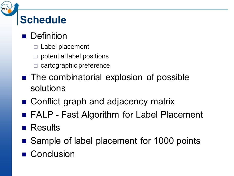 Schedule Definition The combinatorial explosion of possible solutions