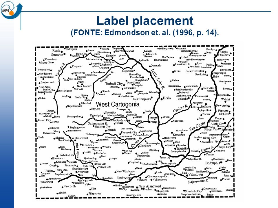 Label placement (FONTE: Edmondson et. al. (1996, p. 14).