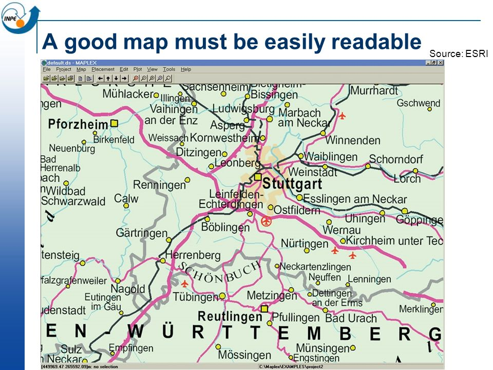 A good map must be easily readable