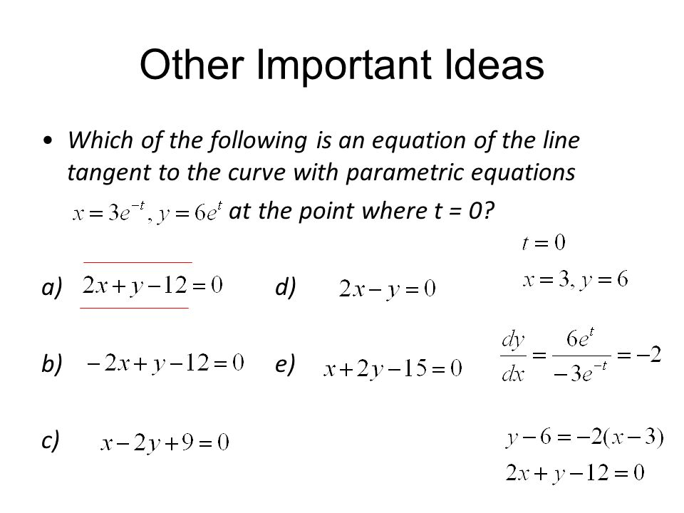 how to make an equation for the curve