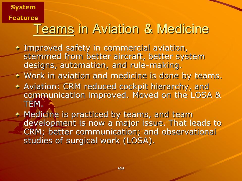 Teams in Aviation & Medicine