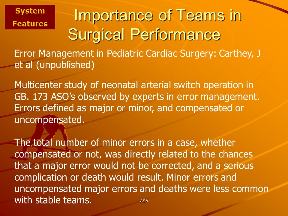Importance of Teams in Surgical Performance