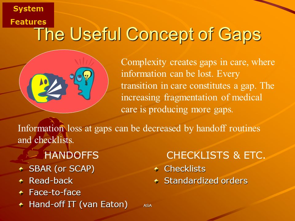 The Useful Concept of Gaps