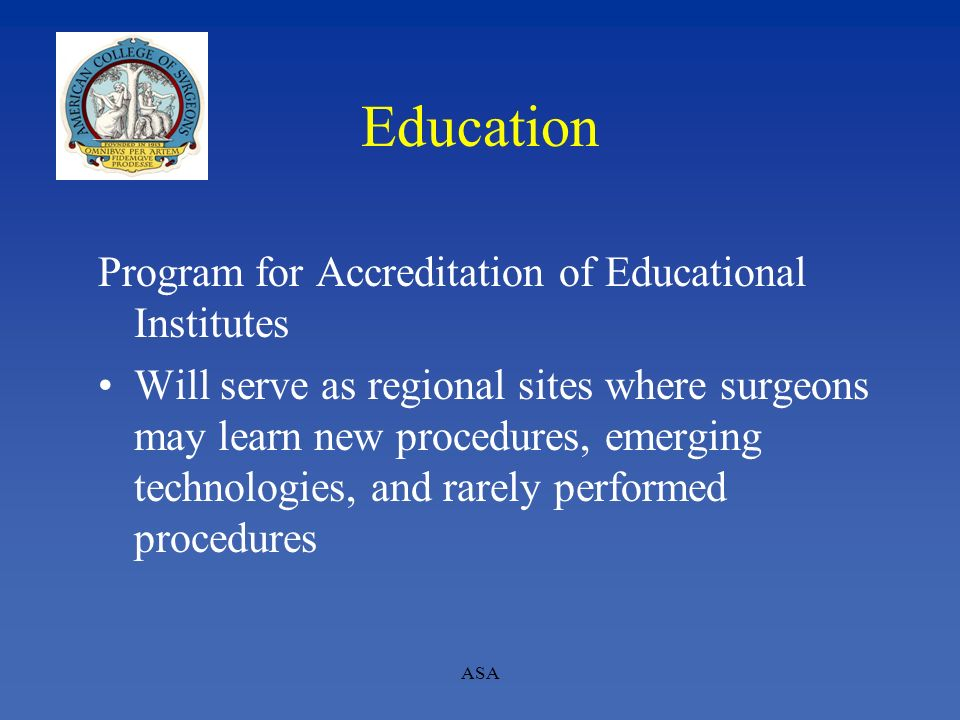 Education Program for Accreditation of Educational Institutes