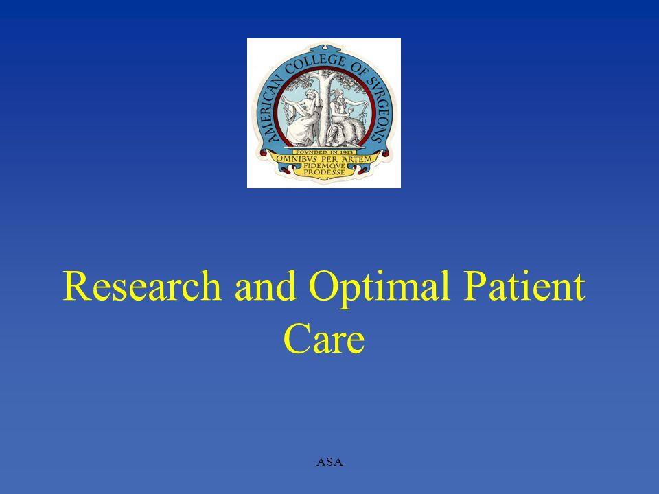 Research and Optimal Patient Care