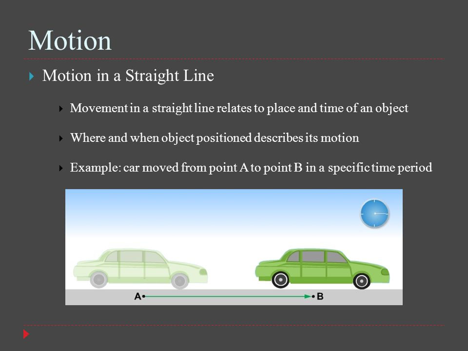 Motion Motion in a Straight Line