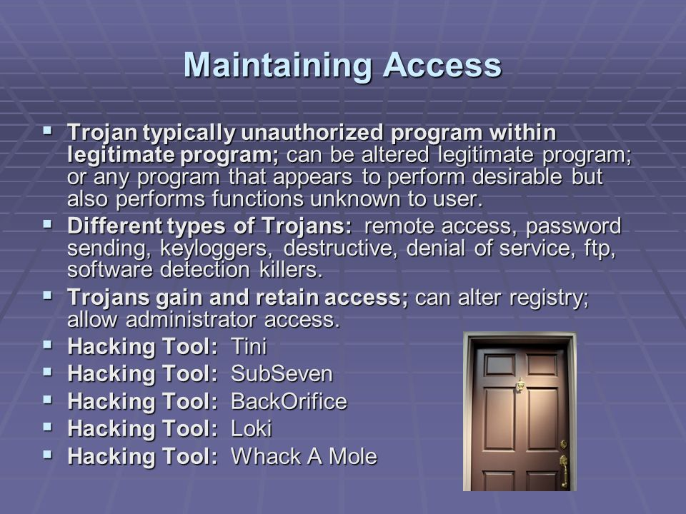 Maintaining Access