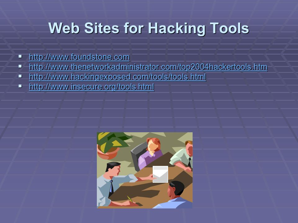 Web Sites for Hacking Tools