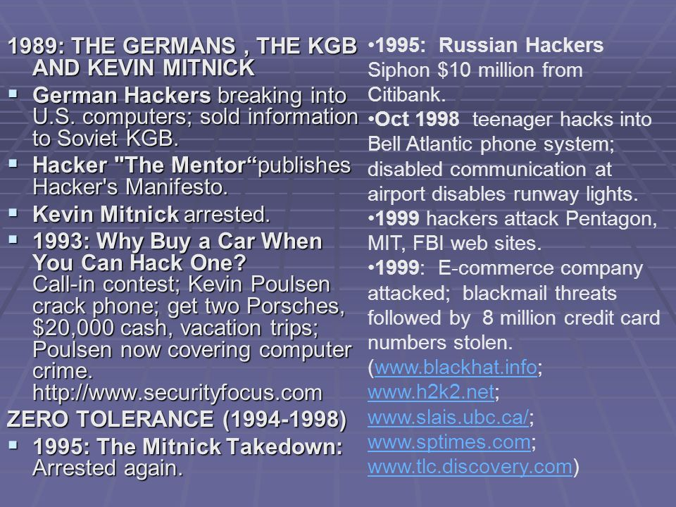 1989: THE GERMANS , THE KGB AND KEVIN MITNICK