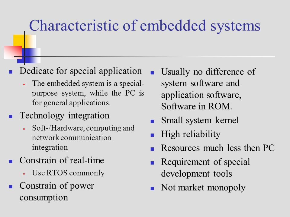 statement of purpose for embedded systems Being a general purpose modeling language  needs of modeling systems in a oo manner statement not any longer maintained,  and statical analysis of embedded systems.