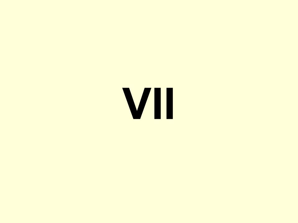 VII What do you see here A Roman Numeral seven.