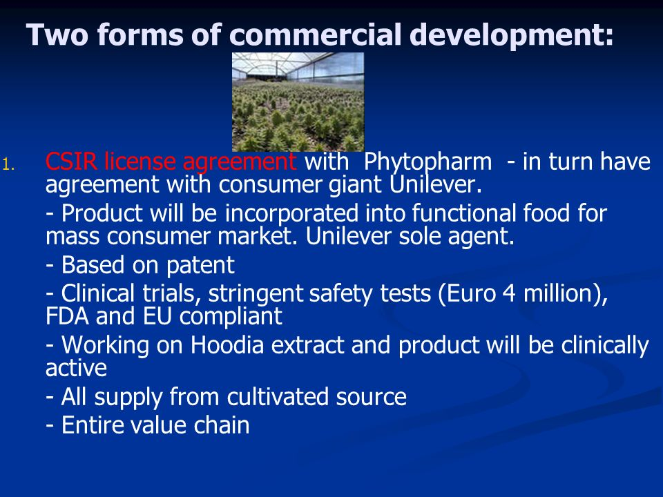 Two forms of commercial development: