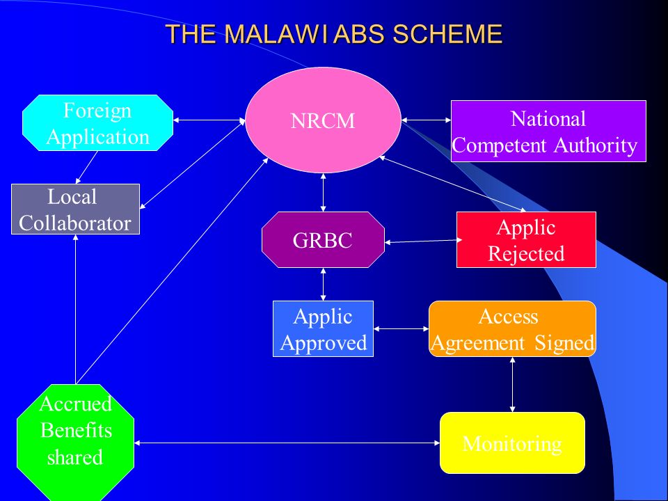 THE MALAWI ABS SCHEME NRCM Foreign Application National