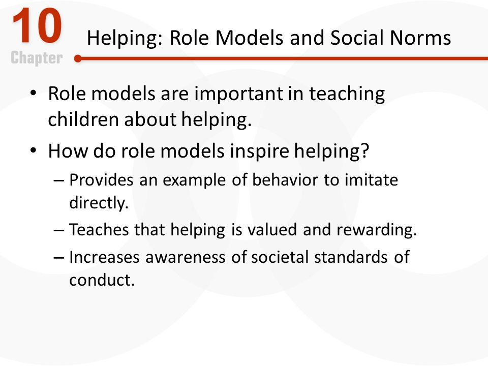 provide an effective role model for the standards of behaviour expected of children young people and Being a role model many children and young people select detrimental role models because of strong negative influences raising standards through good behaviour.