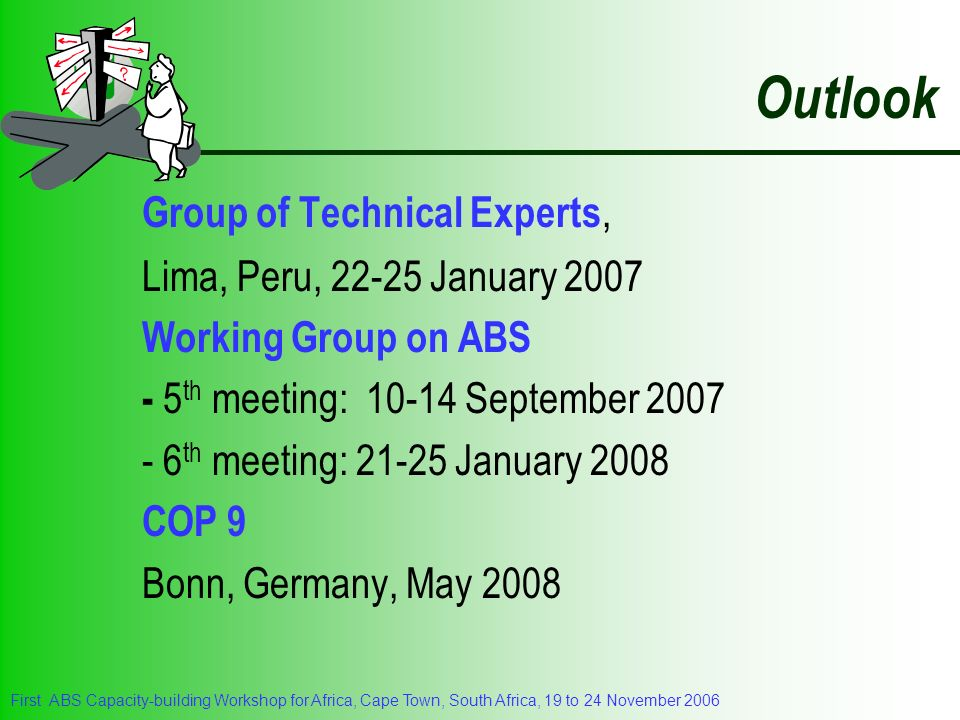 Outlook Group of Technical Experts, Lima, Peru, January 2007