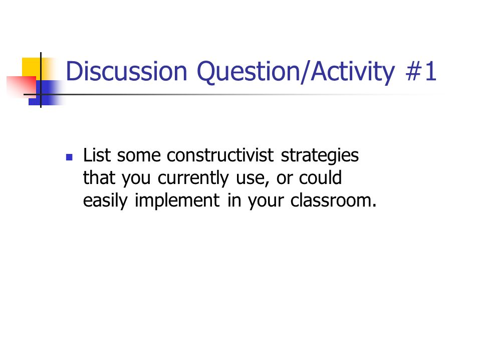 Discussion Question/Activity #1