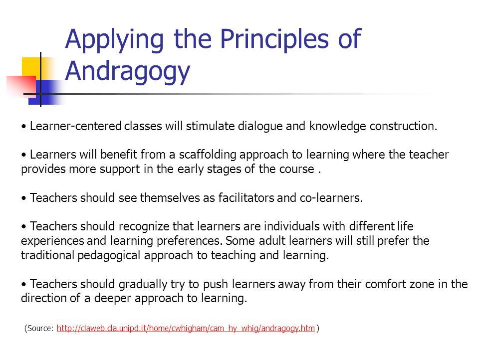 Applying the Principles of Andragogy