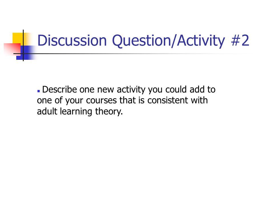 Discussion Question/Activity #2