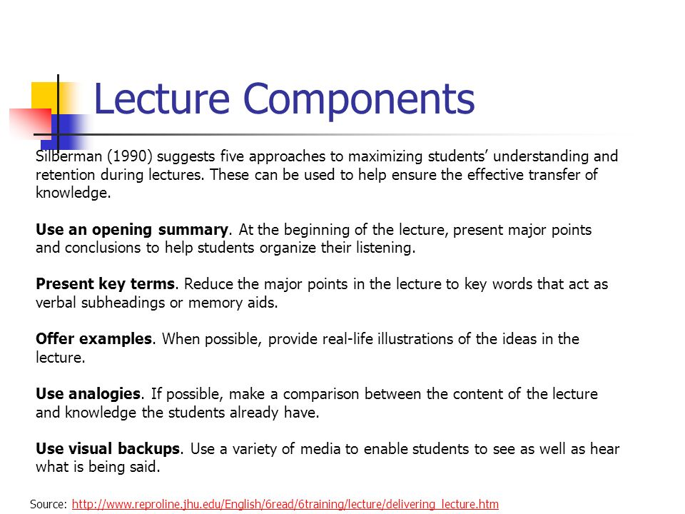 Lecture Components