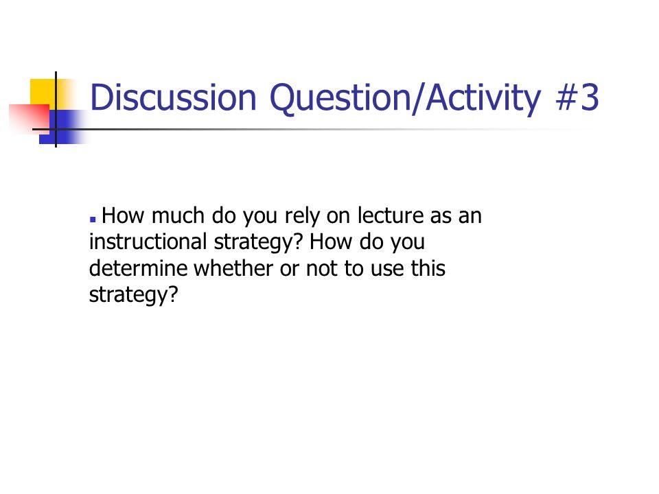 Discussion Question/Activity #3