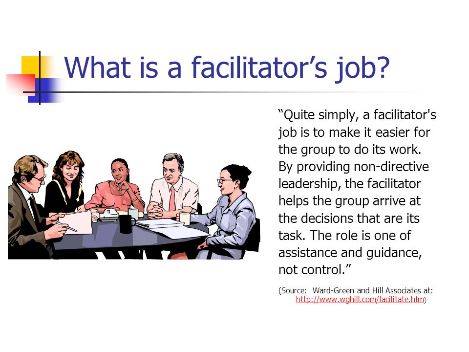 What is a facilitator's job