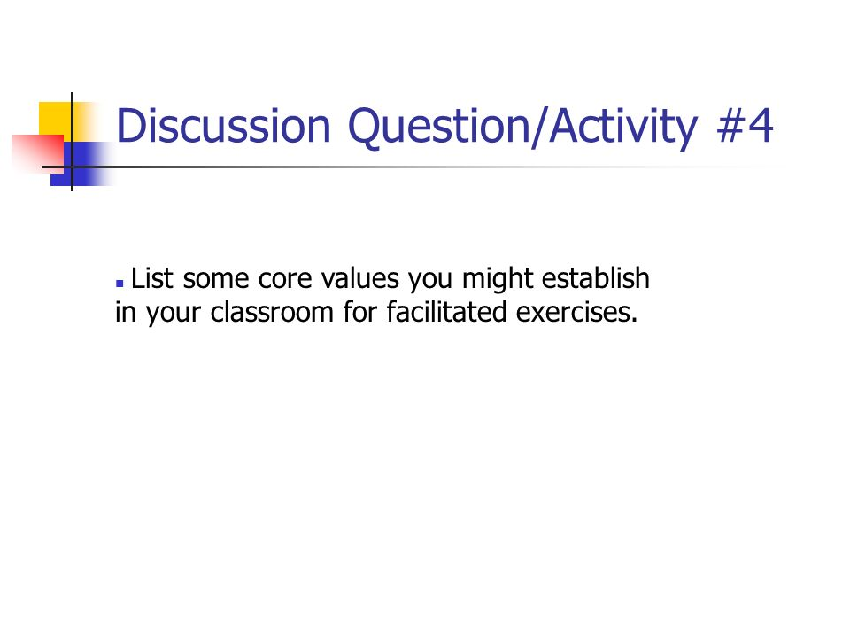 Discussion Question/Activity #4