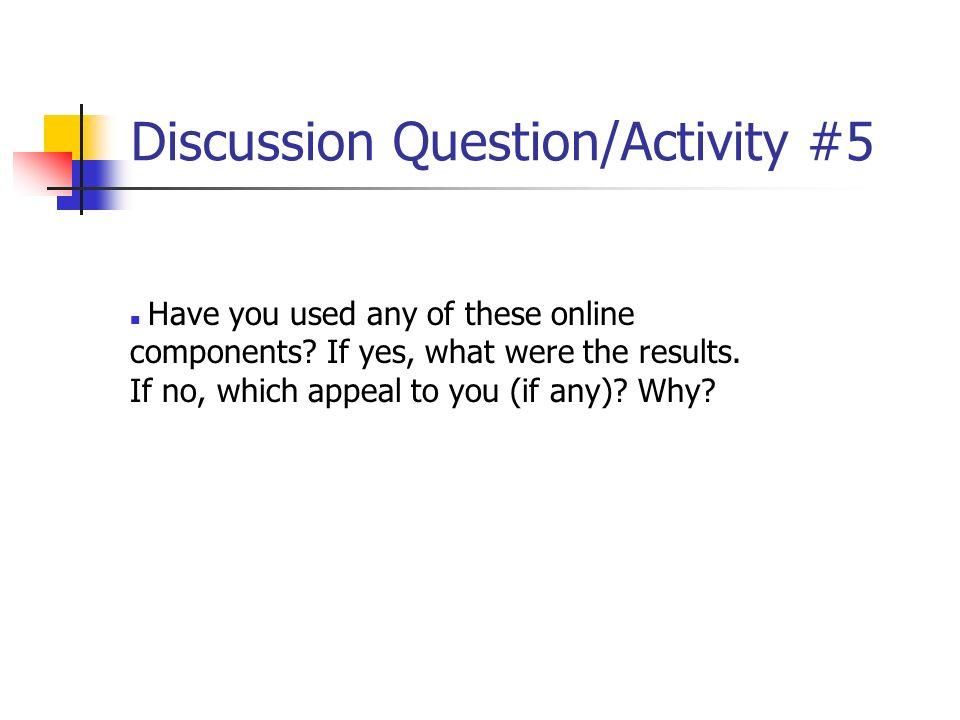Discussion Question/Activity #5