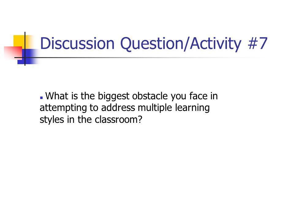 Discussion Question/Activity #7