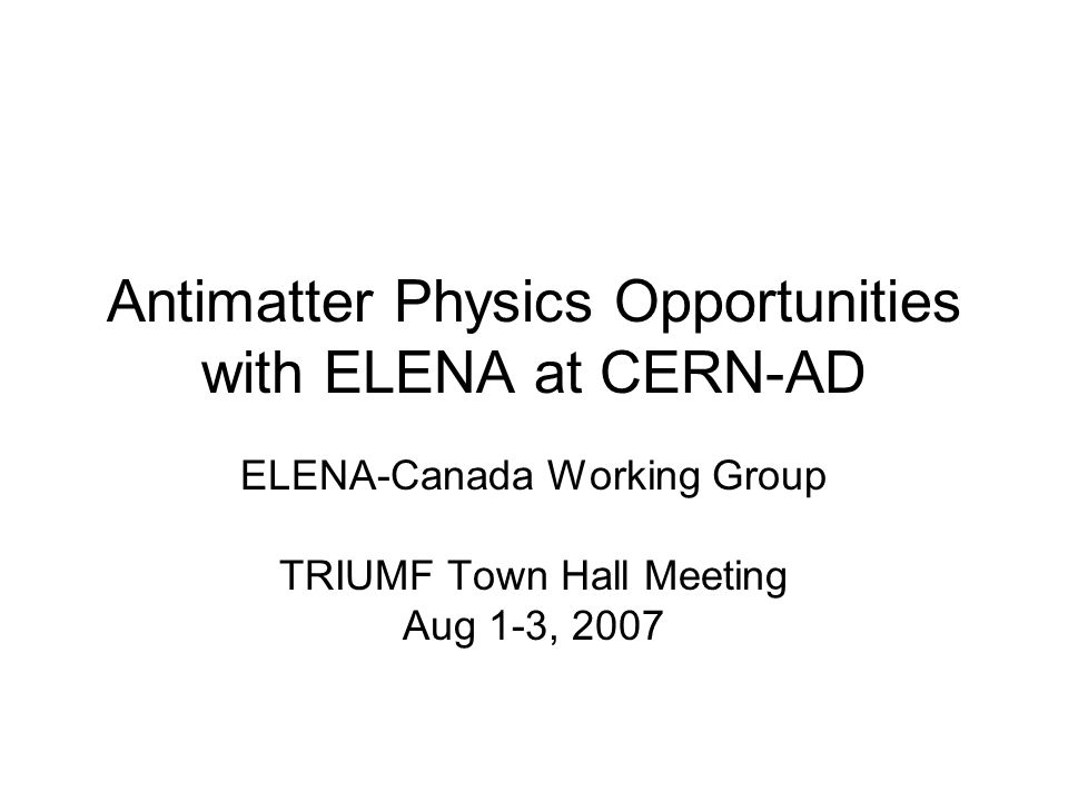 Antimatter Physics Opportunities with ELENA at CERN-AD