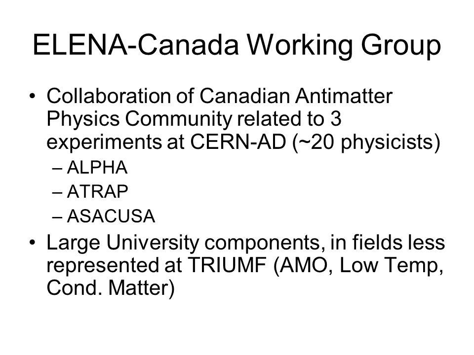 ELENA-Canada Working Group