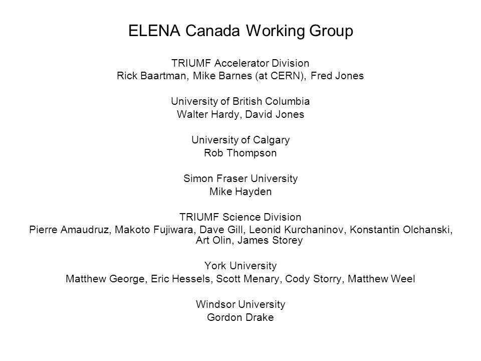 ELENA Canada Working Group