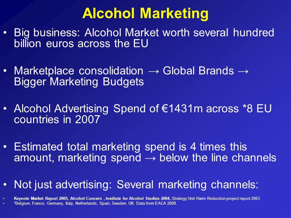Alcohol MarketingBig business: Alcohol Market worth several hundred billion euros across the EU.